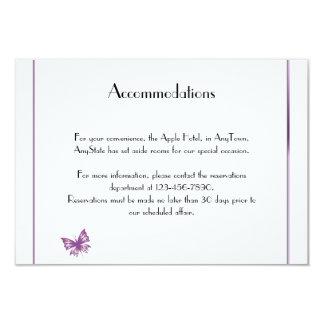 Parte movible púrpura del boda del corazón de la invitación 8,9 x 12,7 cm