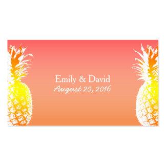 Parte movible tropical del Web site del boda de la Tarjetas De Visita