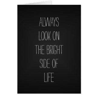 Parte positiva de la vida tarjeta de felicitación