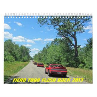 Parte posterior 2013 de la molestia del viaje de F Calendario
