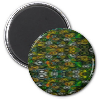 Parte posterior 2 del círculo imán redondo 5 cm
