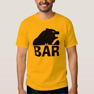 Parte posterior alemana de la garra de oso negro playeras