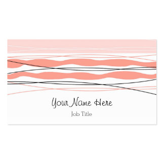 Parte posterior atlántica del rosa de la tarjeta tarjetas de visita