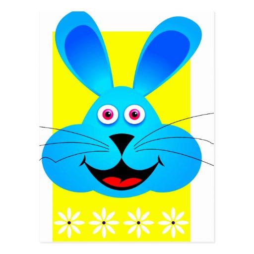 parte posterior azul brillante del amarillo de la tarjeta postal