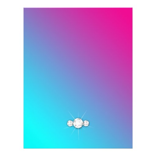 "Parte posterior azul de la cebra del rosa del folleto 8.5"" x 11"""