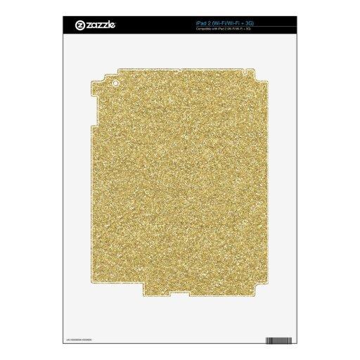 PARTE POSTERIOR BEIGE PONER CREMA NEUTRAL del oro  Skin Para El iPad 2