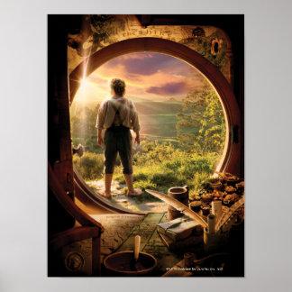 Parte posterior de Bilbo en collage del condado Impresiones