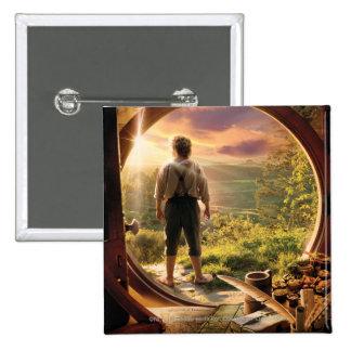 Parte posterior de Bilbo en collage del condado Pin
