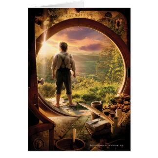 Parte posterior de Bilbo en collage del condado Felicitaciones