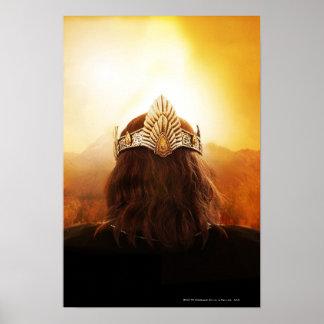 Parte posterior de la cabeza con la corona póster