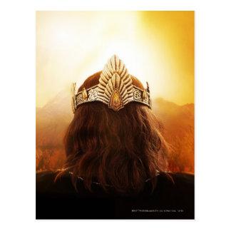 Parte posterior de la cabeza con la corona tarjetas postales