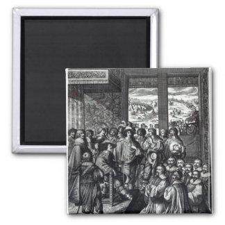 Parte posterior de Louis XIII del cerco de La Roch Imán Cuadrado