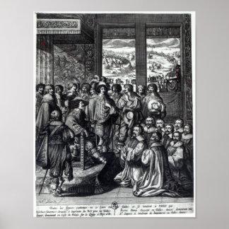 Parte posterior de Louis XIII del cerco de La Roch Póster