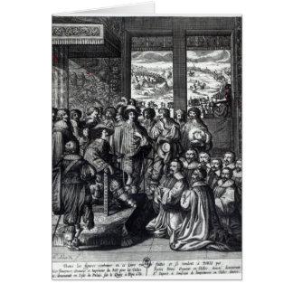 Parte posterior de Louis XIII del cerco de La Roch Tarjeta De Felicitación