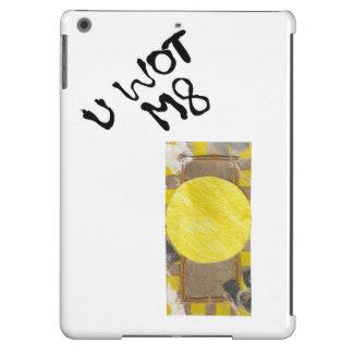 Parte posterior del aire del Yo-Cojín del botón de Funda Para iPad Air