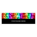 Parte posterior del negro de la raya del arco iris plantillas de tarjeta de negocio