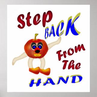 Parte posterior del paso de la mano póster
