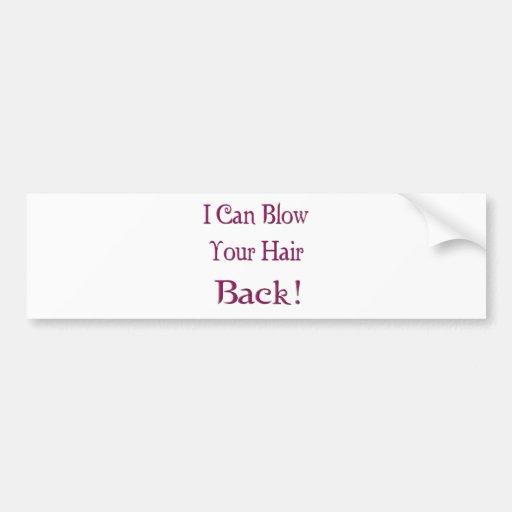 Parte posterior del pelo pegatina de parachoque
