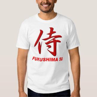 Parte posterior del SAMURAI FUKUSHIMA50: ruegue Camisas