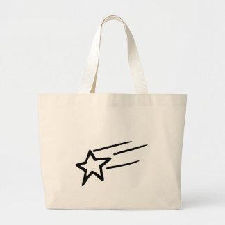 parte posterior del tote con la estrella fugaz bolsa