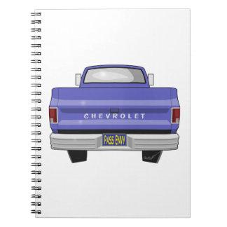 Parte posterior el an o 80 del camión de Chevy Libreta