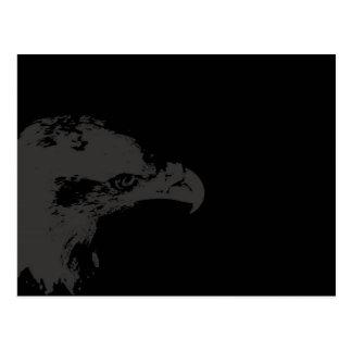 parte posterior gráfica gris del negro de la tarjeta postal
