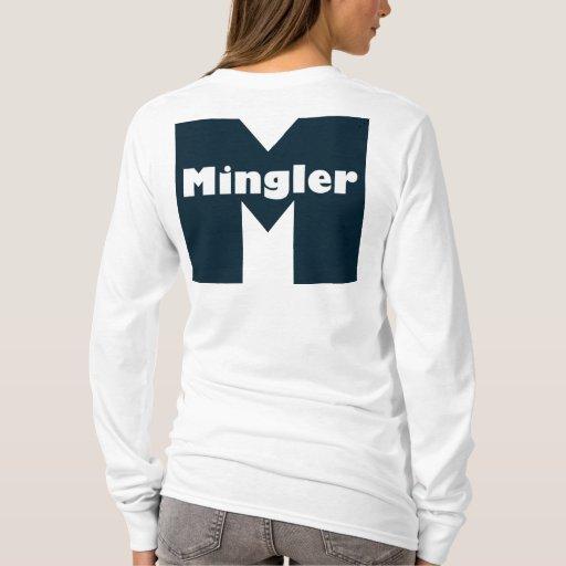 Parte posterior larga de la manga de Mingler Playera