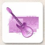 parte posterior pink.png de la roca de la guitarra posavasos
