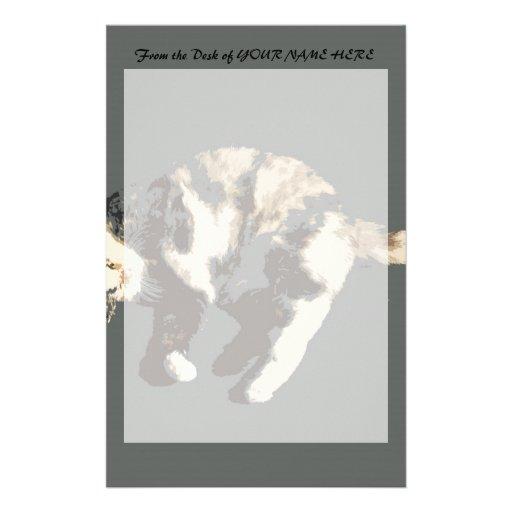 parte posterior posterized del gris del gato de ca papelería