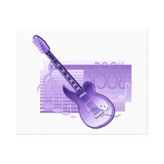 parte posterior purple.png de la roca de la guitar impresion en lona