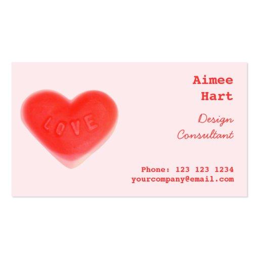 Parte posterior rosada del rojo del lado de la tar plantilla de tarjeta personal