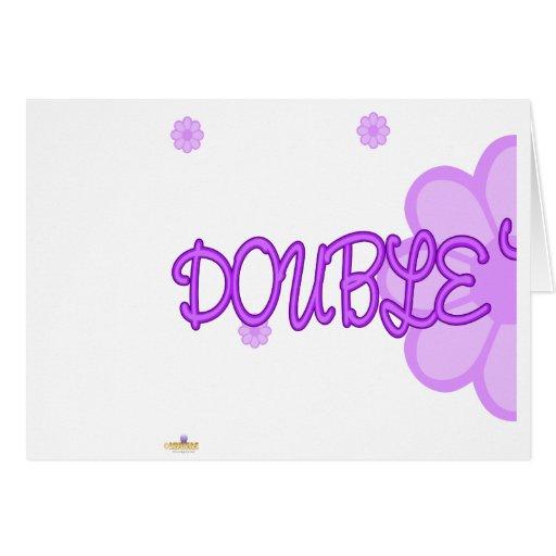 Parte púrpura 1 de Lt Flowers del problema doble Felicitación