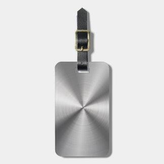 Parte radial metálica personalizada del acero etiquetas para equipaje