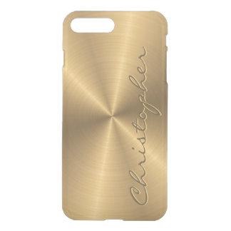 Parte radial metálica personalizada del oro del fundas para iPhone 7 plus