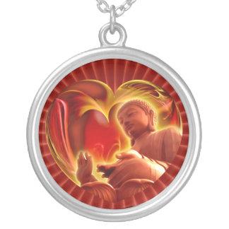 Parte radial roja del corazón el | de BUDA Colgante Redondo