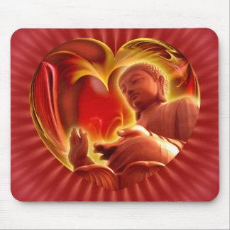 Parte radial roja del corazón el | de BUDA Tapete De Raton
