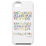 Parte superior colorida del alfabeto de los niños  iPhone 5 carcasa