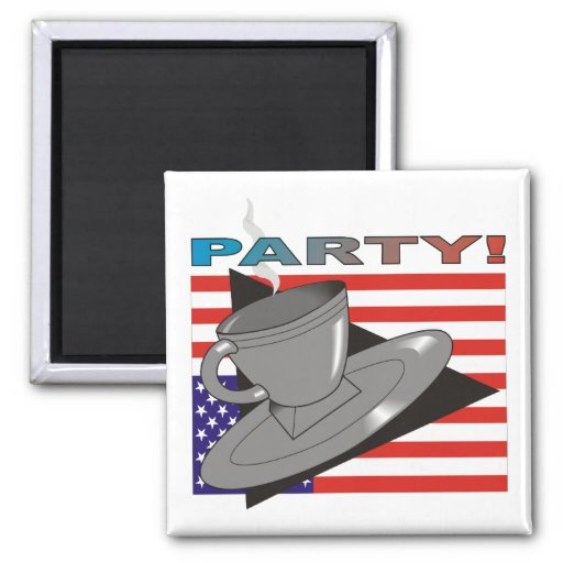 ParTea! (Tea Party II) 2 Inch Square Magnet