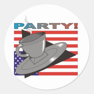 ParTea! (Tea Party II) Classic Round Sticker