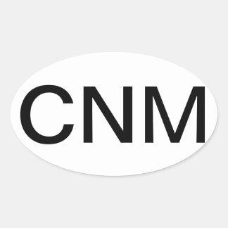 Partera de enfermera certificada pegatina ovalada