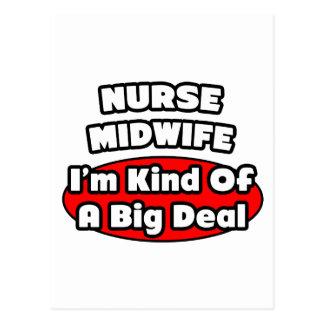 Partera de la enfermera. Gran cosa Postales
