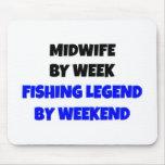 Partera de la leyenda de la pesca alfombrilla de ratones