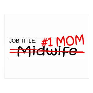 Partera de la mamá del trabajo tarjetas postales