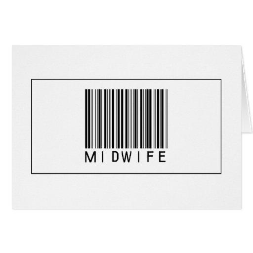 Partera del código de barras tarjeta