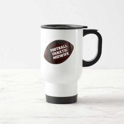 Partera del fanático del fútbol taza de café