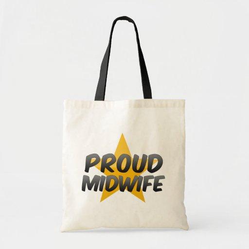 Partera orgullosa bolsa tela barata