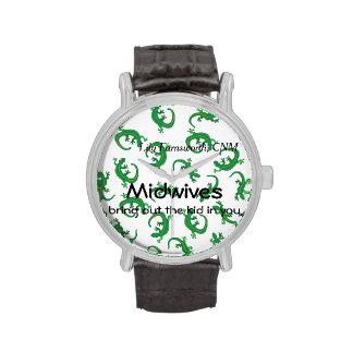 Parteras y torsión del lagarto verde relojes