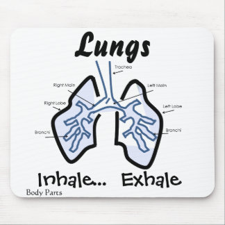 Partes del cuerpo -- Pulmones humanos Tapetes De Ratón
