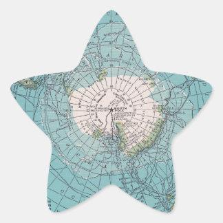 Partes inferiores para arriba pegatina en forma de estrella