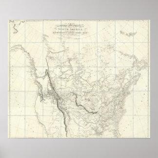Partes interiores de Norteamérica Impresiones